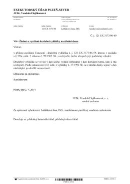 190973942_0_Žádost o zveřejnění dražební vyhlášky, č. j. 121 EX