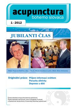 2012 - 1 - Česká lékařská akupunkturistická společnost
