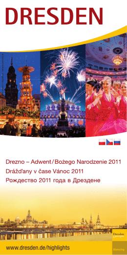 """""""Drážďany v čase Vánoc"""" (*pdf, česky)"""