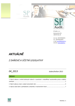 Bulletin SP Audit 04/2013
