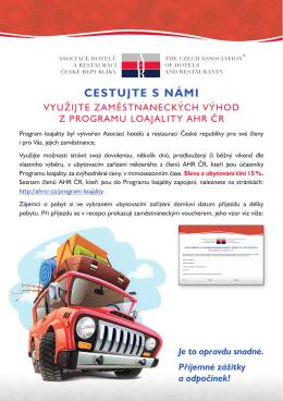 CESTUJTE S NÁMI - Asociace hotelů a restaurací ČR