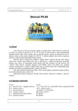 Stmívač PS-88 - Agro fabrika