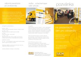 pozvánka - Schachermayer spol. s ro