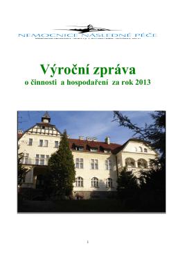 Výroční zpráva 2013 (pdf, 775 kB)