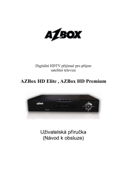 AZBox HD Elite , AZBox HD Premium Użivatelská