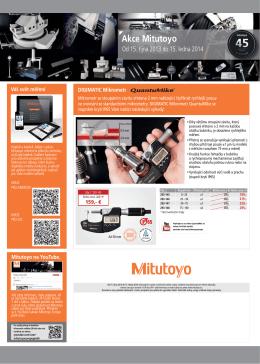 Akce Mitutoyo - WHP Technik, s.r.o.
