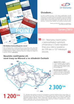 Newsletter POiNT červen 2012 - ČD