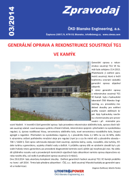 stáhnout ve formátu .pdf - ČKD Blansko Engineering as