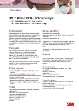 3M™ Refine X300 – Ochranné brýle