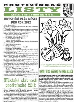 Protivínské listy 03/2012 (PDF, cca 2,1 MB)