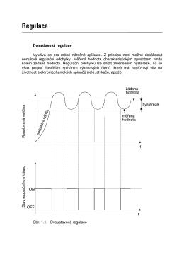 Jednoduchý popis dvoustavové a PID regulace.