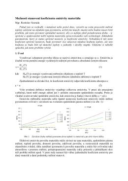 Základy bezdotykového měření teploty radiačním pyrometrem
