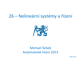 26 – Nelineární systémy a řízení