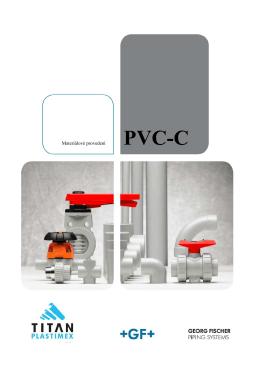 Materiálové provedení PVC-C - TITAN