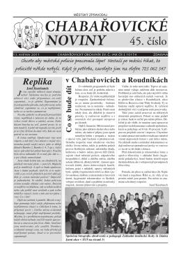 Chabařovické noviny č.45