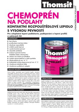 Technický list Thomsit Chemoprén Na podlahy
