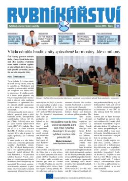Noviny Rybníkářství 14. číslo - Rybářské sdružení České republiky