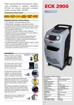 ECK 2900 - Přístroje pro plnění klimatizací