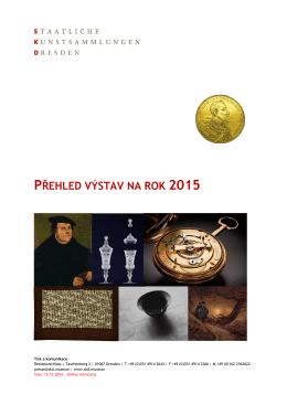 přehled výstav na rok 2015