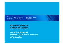 Aktuální judikatura k obecnímu zřízení
