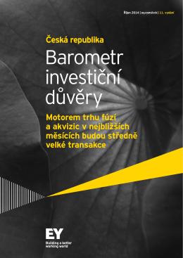 Barometr investiční důvěry - studie pro Českou