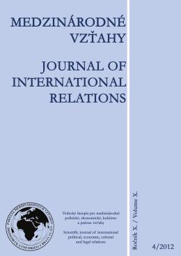 4 - Fakulta medzinárodných vzťahov