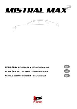 MODULÁRNY AUTOALARM Užívateľský manuál
