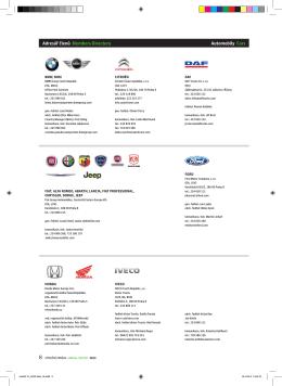 Adresář členů Members Directory Automobily Cars