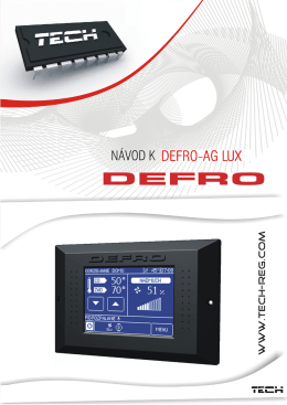 DEFRO AG LUX- regulátor kotle - 1 -