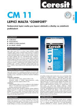 Lepící malta univerzální Ceresit Comfort CM 11
