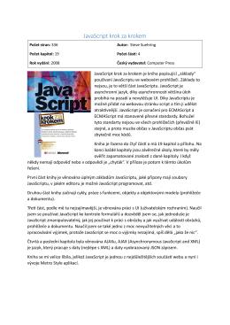 JavaScript krok za krokem