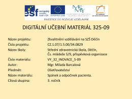 Snímek 1 - Střední zdravotnická škola Děčín