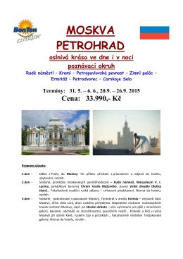 MOSKVA PETROHRAD - Bon Ton, s.r.o.