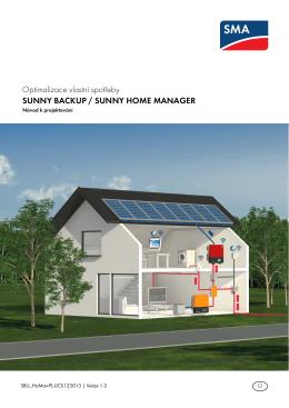 Optimalizace vlastní spotřeby - SUNNY BACKUP / SUNNY HOME