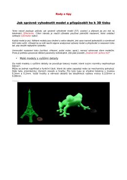 Jak správně vyhodnotit model a přizpůsobit ho k 3D tisku