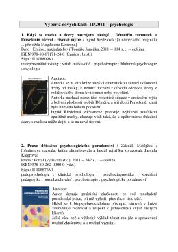 Výběr z nových knih 11/2011 – psychologie