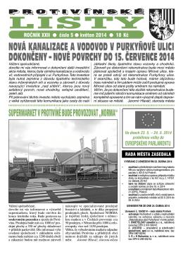 Protivínské listy 05/2014 (PDF, cca 2,7 MB)