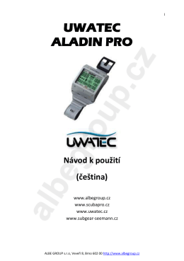 Manual UWATEC ALADIN PRO