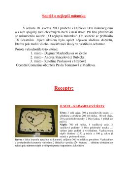 Mňamka - recepty