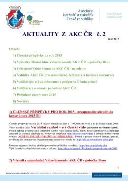 Aktuality z AKC ČR č. 2