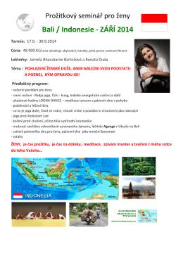 Bali / Indonesie - ZÁŘÍ 2014