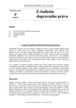 Prosinec 2012 - Advokátní kancelář Machytková, Sedláček, Vaca