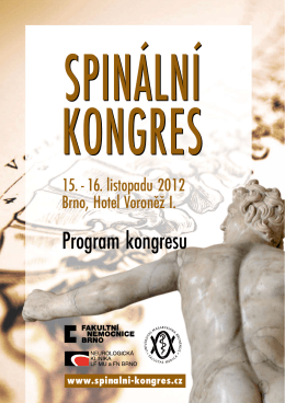 Program kongresu - Spinální kongres