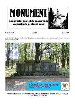 září 2014 - Spolek pro vojenská pietní místa