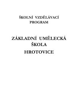 Stáhni - Základní umělecká škola Hrotovice