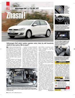 TEST Volkswagen Golf 1.4 TSI BMT ACT - volkswagen