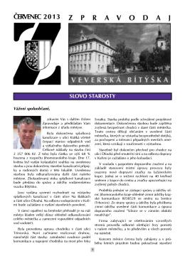 Zpravodaj - Mestys Veverska Bityska - 07/2013