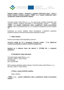 Zadávací dokumentace (pdf)