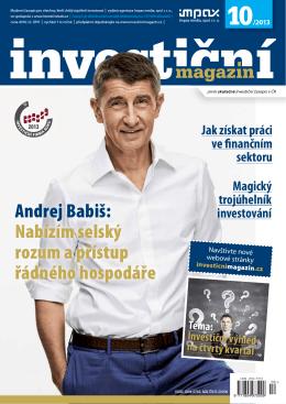 Andrej Babiš - Investiční magazín