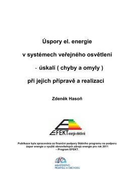 Úspory el. energie v systémech veřejného osvětlení
